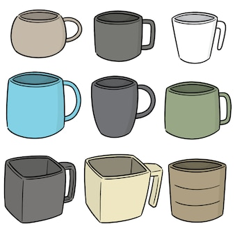 Vector conjunto de copo de bebida