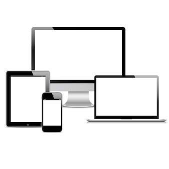 Vector conjunto de dispositivos modernos digital