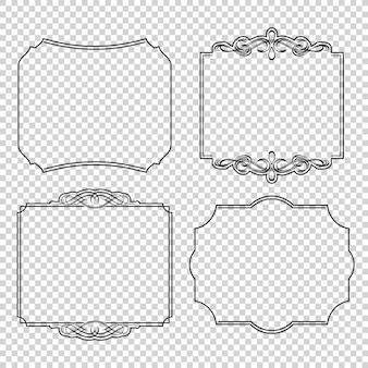 Vector conjunto de elementos de design caligráfico