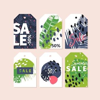 Vector conjunto de emblemas de tag