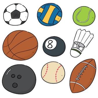 Vector conjunto de equipamentos de esporte