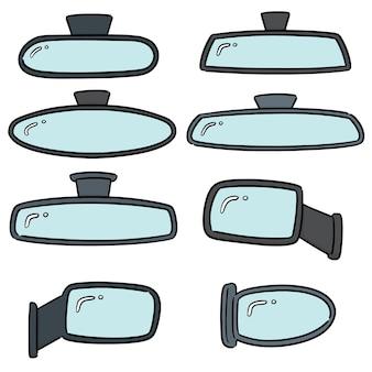 Vector conjunto de espelhos retrovisores
