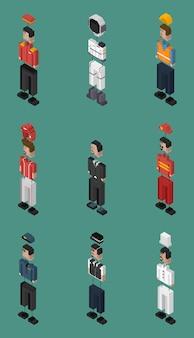 Vector conjunto de homens e profissões