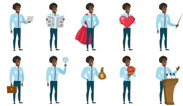 Vector conjunto de ilustrações com pessoas de negócios.