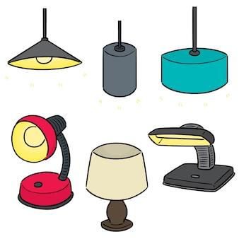 Vector conjunto de lâmpada