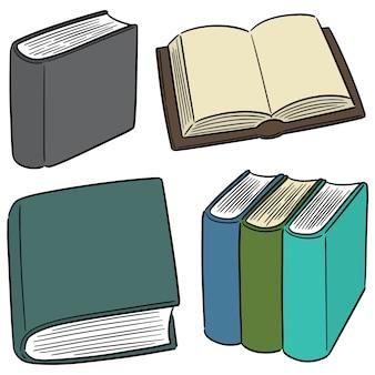 Vector conjunto de livro