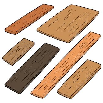 Vector conjunto de madeira compensada