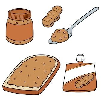 Vector conjunto de manteiga de amendoim