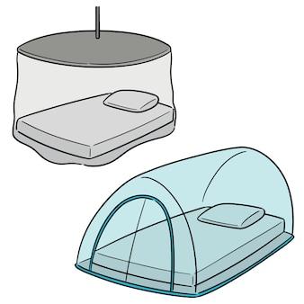 Vector conjunto de mosquiteiro