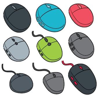 Vector conjunto de mouses de computador