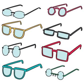 Vector conjunto de óculos