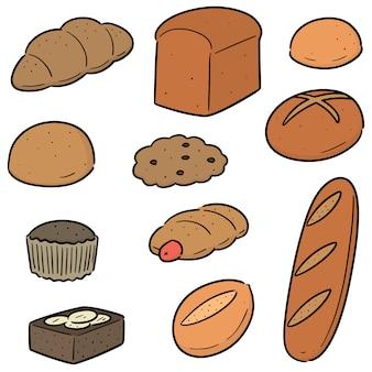 Vector conjunto de padaria