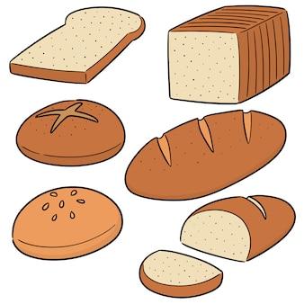 Vector conjunto de pão
