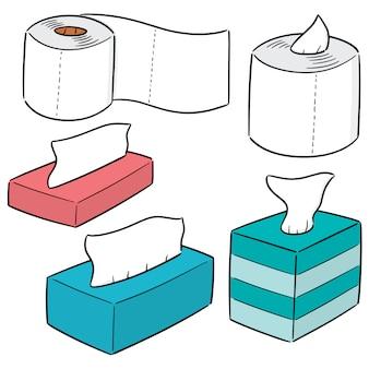 Vector conjunto de papéis de tecido