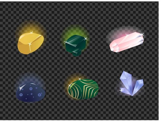 Vector conjunto de pedras preciosas