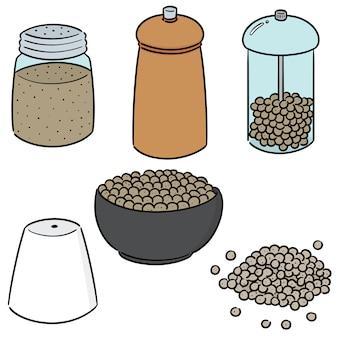 Vector conjunto de pimenta