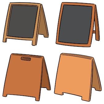 Vector conjunto de placa de sanduíche