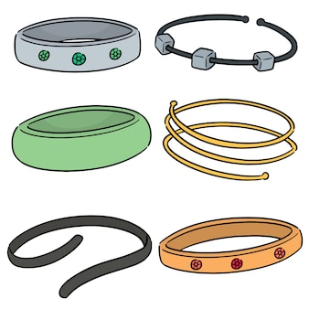 Vector conjunto de pulseira