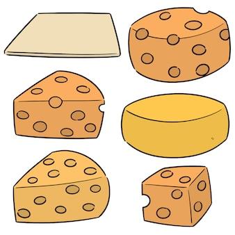 Vector conjunto de queijo