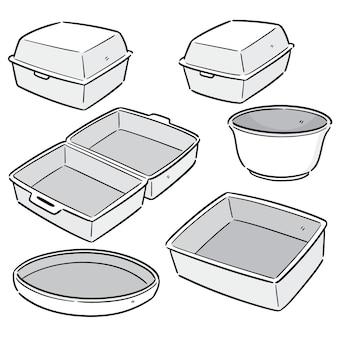 Vector conjunto de recipiente de espuma