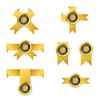 Vector conjunto de rótulo de ouro