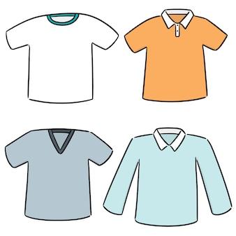 Vector conjunto de t-shirt