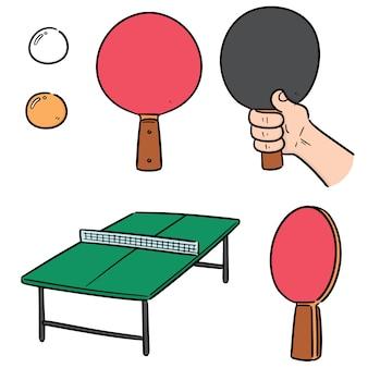 Vector conjunto de ténis de mesa