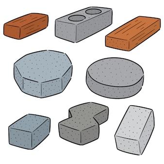 Vector conjunto de tijolos