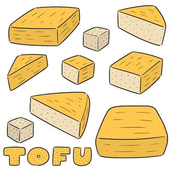 Vector conjunto de tofu