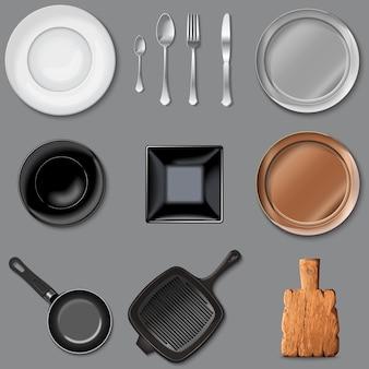 Vector conjunto de utensílios de cozinha