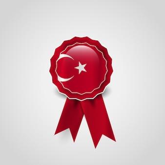 Vector de emblema de design de bandeira turca