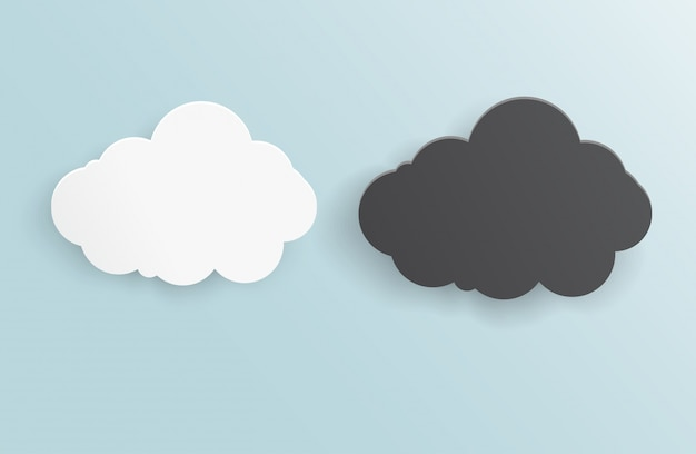 Vector de fundo abstrato nuvem de trovoada.