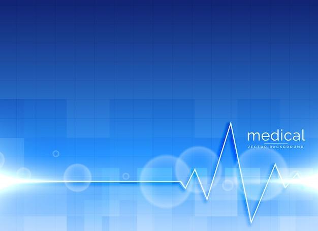 Vector de fundo médico com linha do coração