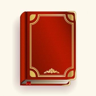 Vector de livro de couro vermelha