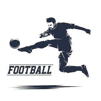 Vector de logotipo de futebol e futebol