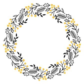 Vector de mão desenhada grinalda de natal