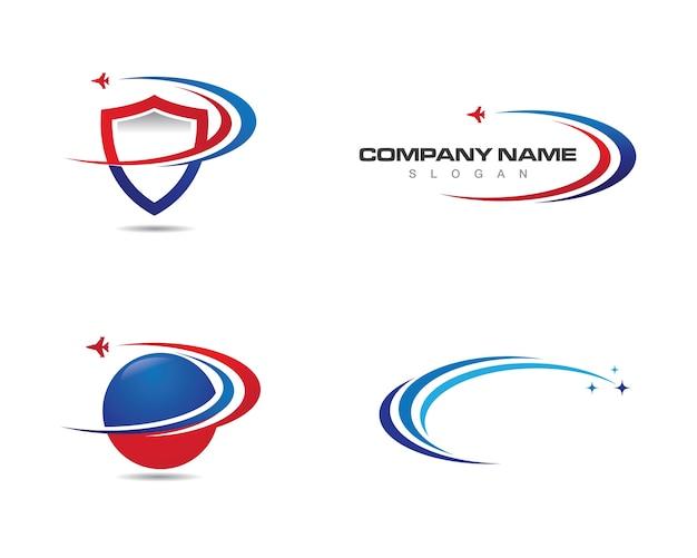 Vector de modelo de logotipo mais rápido
