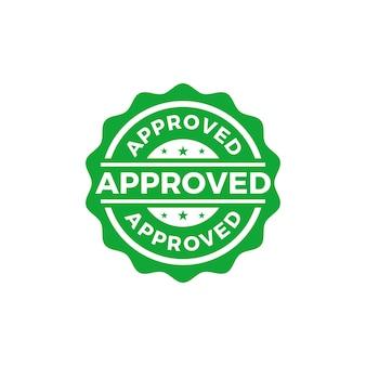 Vector de selo selado aprovado
