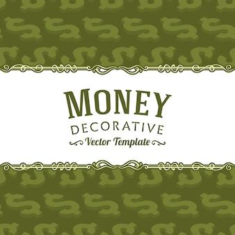 Vector decoração design feito de símbolos isométricos do dólar