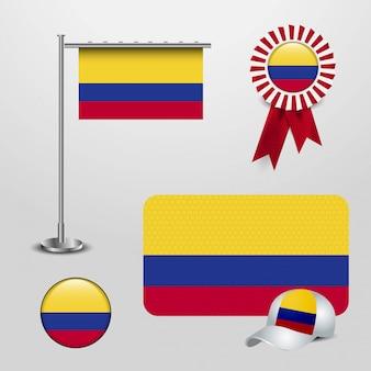 Vector design de bandeira de colômbia