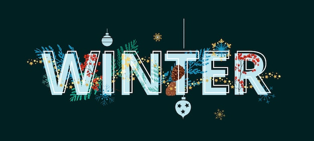 Vector design de banner de inverno