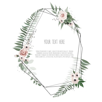 Vector design de cartão botânico floral