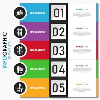 Vector design de infografia colorido