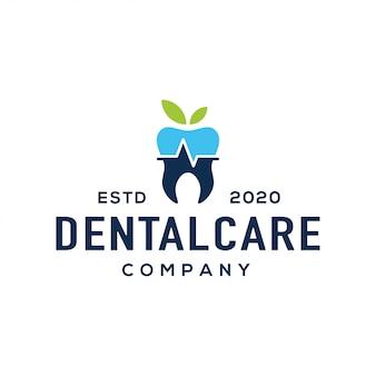 Vector design de logotipo dental.