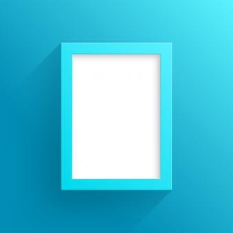 Vector design de moldura azul com fundo branco