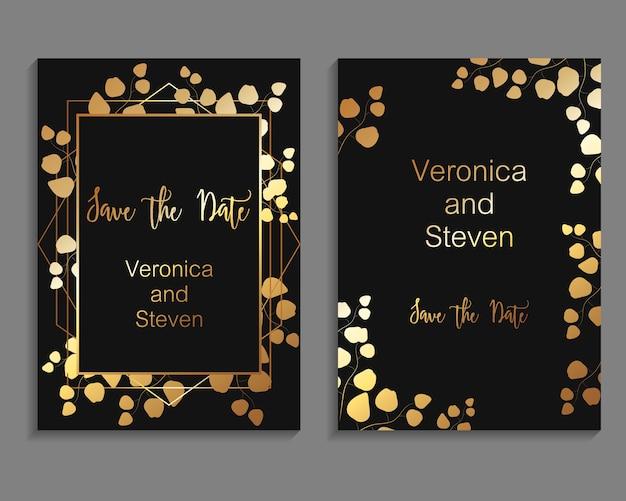 Vector design para modelo de cartão de convite de casamento