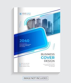Vector design premium da capa do livro de negócios criativos modernos