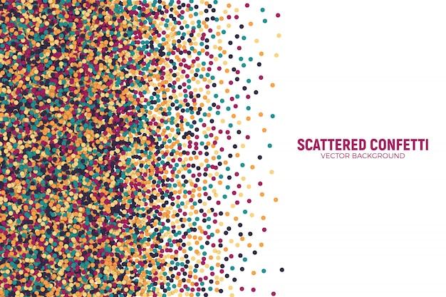 Vector disperso motley confetti 3d vector
