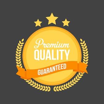 Vector distintivo plano de alta qualidade premium, rótulo redondo.