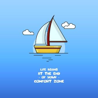 Vector do ícone do barco à vela